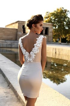 Wedding Gown victoria soprano 2018 bridal cap sleeves deep v neck heavily embellished bodice sexy modern mini skirt short wedding dress open v back (leila) zbv - You'll fall in love with these stunning gowns. Short Wedding Gowns, Civil Wedding Dresses, Bridal Dresses, Bridesmaid Dresses, Prom Dresses, Lace Mermaid Wedding Dress, Mermaid Dresses, Lace Dress, Dress Outfits