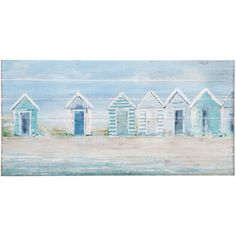 Beach Huts Wood Wall Decor