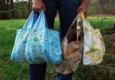 DIY Pillowcase tote bags.