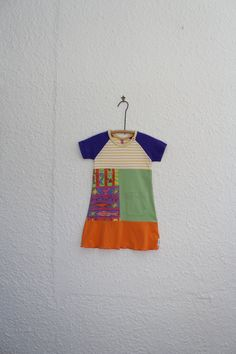 Upcycled TShirt Dress Size 4 Recycled T by cynthiamadeforkids