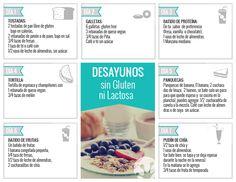 7 recetas de desayunos sin gluten ni lactosa, ideales para celíacos | A la Sana - Blog Tostadas, Menu Dieta, Gluten Free Recipes, Dairy Free, Detox, Breakfast, Health Foods, Blog, Recipes