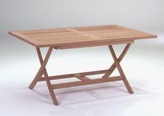 Klapptisch Kensington Holz Teak 6015. Buy now at https://www.moebel-wohnbar.de/gartentisch-teak-kensington-klapptisch-rechteckig-massivholz-6015.html