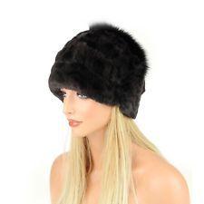 Cappello di pelliccia oversizemuetze Beanie Berretto con pelo volpe  invernale 69c9c0f2b322