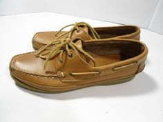 VINTAGE Women's Minnetonka Moccasins Shoes Deck Boat Driving Brown Leather 7.5 #MinnetonkaMoccasin #LoafersMoccasins