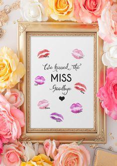 Digitaldruck - Kiss the MISS Goodbye - JGA Spiel - ein Designerstück von wandzucker bei DaWanda