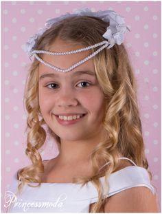 Nr.017 Haarkranz / Kopfschmuck in Weiß! - Princessmoda - Alles für Taufe Kommunion und festliche Anlässe