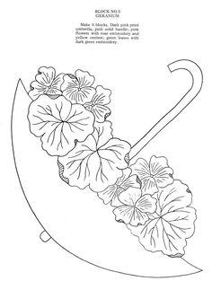 Unbrella bouquet - Geranium