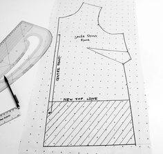 Sew Over It Ultimate Shift Dress pattern hack - DIY button back cropped blouse