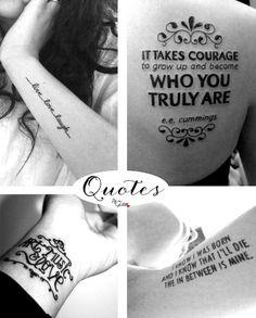 Tattoo ideas / Quotes