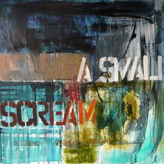 "Saatchi Online Artist: Niki Hare; Mixed Media, 2013, Painting ""a small scream"""