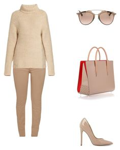"""Calabasas."" by cmmpany ❤ liked on Polyvore featuring Barbour, TIBI, Steve Madden, Christian Louboutin and Christian Dior"