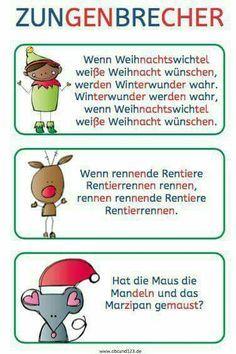 Christmas tongue twister – Famous Last Words Early Intervention Program, Kindergarten Portfolio, Tongue Twisters, Reading Practice, Learn German, Kids Behavior, Educational Programs, German Language, Fun To Be One