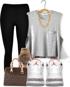 """""""Outfit"""" by l0vely-beauty ❤ liked on Polyvore, swag clothes, leggings, tank"""