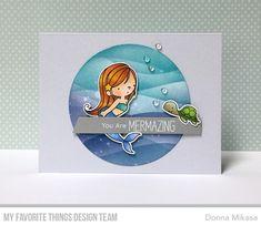 Stamps: Mermazing Die-namics: Mermazing, Circle STAX Set 1 Stencil: Drifts & Hills Donna Mikasa #mftstamps