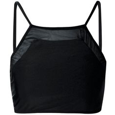 Boohoo Edrine Mix And Match Mesh Insert Crop Bikini Top | Boohoo ($16) ❤ liked on Polyvore featuring swimwear, bikinis, bikini tops, crop swim top, crop bikini, swim tops, swimsuit tops and tankini tops