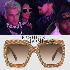 Gucci bling sunglasses #wishlist Gucci Sunglasses, Sunnies, Real Style, My Style, Coachella, Rihanna, Celebrity Style, Slim, Gold Rhinestone