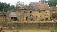 """""""The Chateau de Guedelon was started in 1998, after local landowner Michel Guyot wondered whether it would be possible to build a castle from scratch, using only contemporary tools and materials."""" -Hugh Schofield, BBC"""
