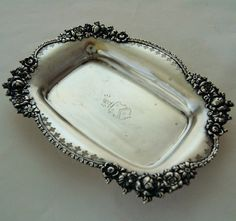 Antique Towle Sterling Silver Vanity Tray Roses & Coat of Arms from Antik Avenue on Ruby Lane
