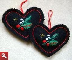 Hungarian embroidered xmas ornaments