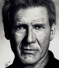 Look Closely - pencil portrait by Rick Fortson