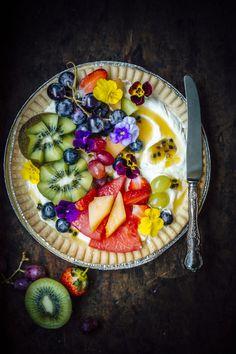 Fresh Fruit and Cardamom Cream Tart