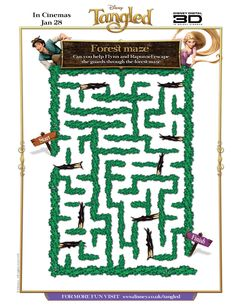 This site has a lot of Tangled themed games and printables.