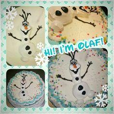 Olaf bettercream icing icecream cake