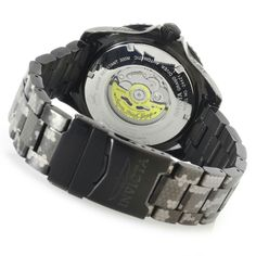 Invicta Men's 47mm Grand Diver Automatic Stainless Steel Bracelet Watch caseback