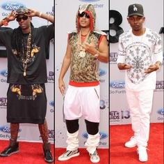 2 Chainz, French Montana, and Kendrick Lamar showin' off their style