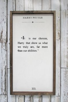Harry Potter Quote. Wood Sign. Harry Potter by WilliamRaeDesigns