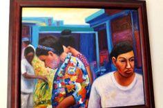 """""""Mujeres en el Mercado II"""", by Ruben Gonza -artist from the Dominican Republic."""