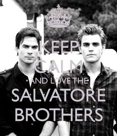 Vampire Diaries | Salvatore Brothers..omg the lord blessed these two with killer looks!