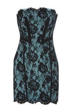 Karen Millen Lace Dress Green and Black [#KMM052] - $85.39 :