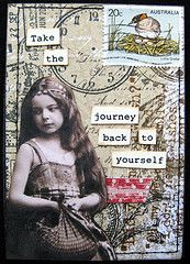 The twenties are something else, for the first time experiencing what it means to journey back to myself . enjoying the ride with several other twenty-something friends & family members Atc Cards, Card Tags, Playing Card Crafts, Playing Cards, Altered Books, Altered Art, Art Journal Pages, Art Journals, Art Trading Cards