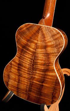 Custom Curly Koa Tenor Ukulele, Lichty Guitars