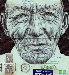 bic biro on 1960 envelope by mark powell bic biro drawings, via Flickr