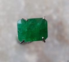 Natural Zambian Emerald Luster Fire Green Octagon Shape Loose Gemstone For Ring at wholesale price With Great Discount Offer Hurry Up by bilalGems8 on Etsy