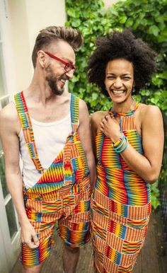 Unisex Dungarees African Print by Portna on Etsy