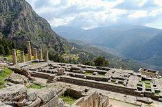 Delphi Temple of Apollo from above