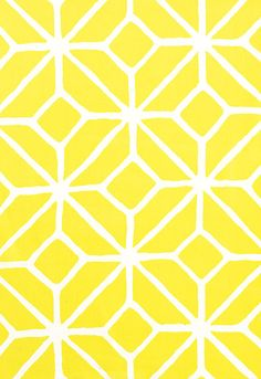 Trellis Print (Citron) by Schumacher