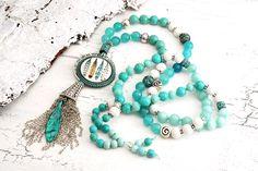 Charm- & Bettelketten - edle Kette ♥ Boho ♥ Jade Summertime - ein Designerstück von Lunas-SchmuckART bei DaWanda