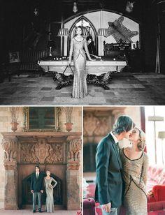 Best of 2012: Engagement Photos - 1920's inspired, art nouveau wedding, decor, decorations