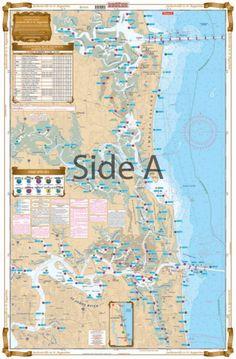 Swordfish /& Trolling Fishing FREE Ship Waterproof Charts 123F SE Florida