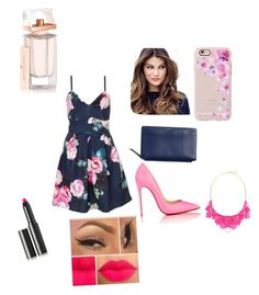 """Out"" by zeyneptx ❤ liked on Polyvore featuring Quiz, Christian Louboutin, Skagen, ULTA, Casetify, Balenciaga, George J. Love and Surratt"