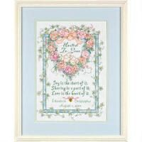 Dimensions® United in Love Wedding Record Counted Cross-Stitch Kit