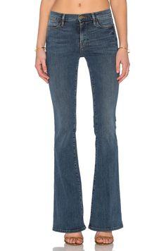 FRAME Denim New Stretch Le High Flare Sexy Jeans Pants Sunset Plaza Blue $230 #FrameDenim #LeHighFlare