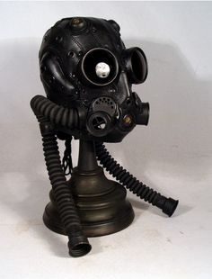 Steam punk gas mask.                                                                                                                                                     More