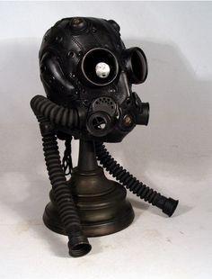 Steam punk gas mask.