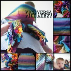 Vice Versa, originally designed by PAXmommy Jillian as an ode to rainbow lovers everywhere, has been on babywearer's top 10 lists for years! A gorgeous classic, our PAXexclusive Vice Versa is now available as a pre order via PAXbaby.com in TWO wefts and TWO weaves! Order your VV just as you like it! These are beautiful hand woven wraps made in Guatemala just for PAXbaby!!!!!