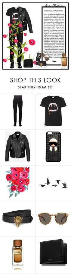 """Witch please.."" by alicevvs ❤ liked on Polyvore featuring Dolce&Gabbana, Yves Saint Laurent, Fendi, Jayson Home, Gucci, Illesteva, Mulberry, men's fashion and menswear"